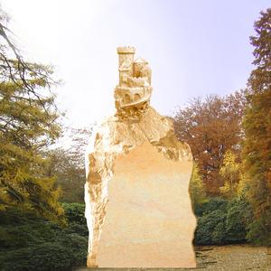 König Drosselbart Kindergrabstein mit Ritterburg