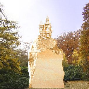 Rapunzel Kindergrabstein mit Märchenschloss