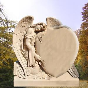 Engel Grabstein Trauerndes Herz