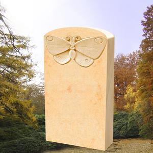 Papillon Grabmal mit Schmetterling