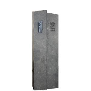 Anzio Schlanker Kalkstein Grabstein / Grau Fã¼r Ein Urnengrab mit Lebensbaum Ornament in Bronze