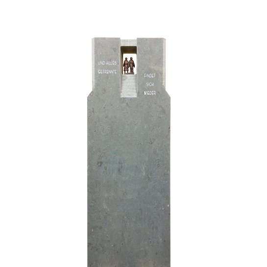 Finita – Schöner Grabstein Kalksteintreppe Und Bronzefiguren