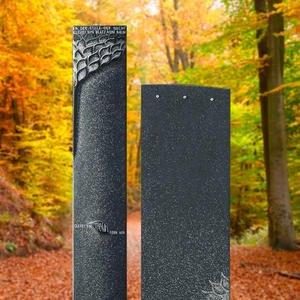 Genera Schöner Grabstein Zweiteilig Schwarz aus Granit