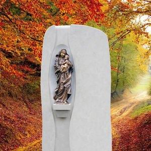 Magnifico Schã¶ner Naturstein Grabstein mit Madonna Figur