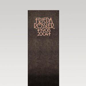 Albona Blanco Schwarzer Granit Einzelgrab Grabstein Modern & Zeitlos