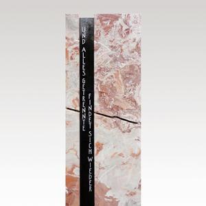 Degas Stilvoller Einzelgrabstein Marmor mit Spruch stehend