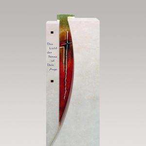 Severo Urnengrab Grabmal mit Regenbogen Glas