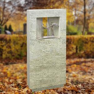 Spiritus Signum Urnengrab Grabstein mit Bronze Engel Figuren