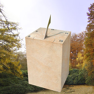 Tempora Grabstein mit Sonnenuhr