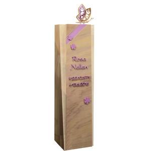 Aglais Urnengrab Stele aus Quarzit mit Schmetterling & Blumen in Rosa