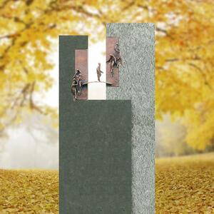 Bisegna Virida Urnengrabmal Geteilt mit Bronze Brücke & Menschen