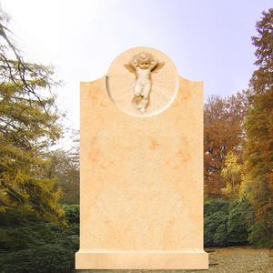 Leonardo Kindergrabstein mit Engelrelief
