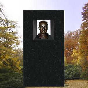 Imago Grabdenkmal mit Bronze Büste