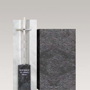 Filia Virgo Urnengrabmal Modern Granit & Marmor mit Kreuz
