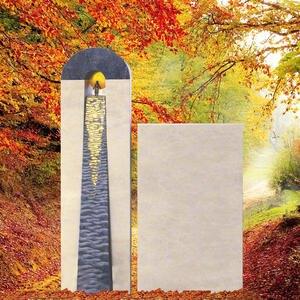 Arreau Urnengrabmal Naturstein Modern mit Sonne
