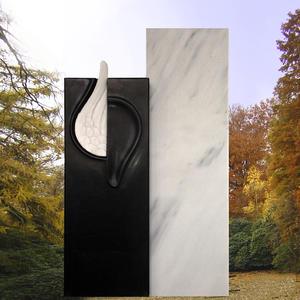 Seraphin Zweiteiliger Grabstein mit Engelflügel