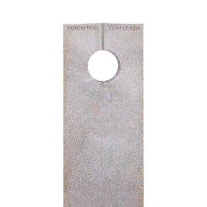 Raphael Moderno Urnengrabstein aus Granit Aurora mit Runder Öffnung
