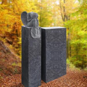 Josselin Urnengrabstein Granit Romantisch mit Grabengel