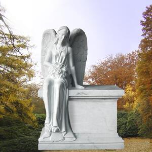 Cerina Grabstein mit sitzendem Engel