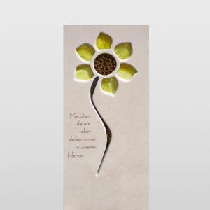 Helia Fiore Urnengrabstein mit Sonnenblume Kaufen