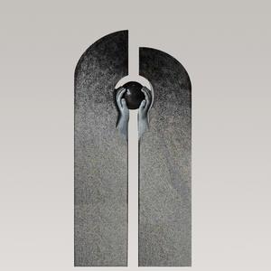 Tenentas Urnengrabstein Modern mit Granit Kugel