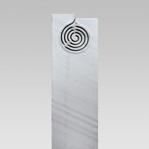Cambia Weisser Doppelgrabstein Marmor Spiralmuster