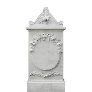 Marguerite Weisser Marmor Grabstein Blumen Dekor