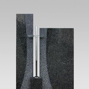 Solem Zweigeteilter Granit Urnenstein mit Kreuz