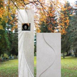 Soleille Zweiteiliger Grabstein mit Metall Sonne