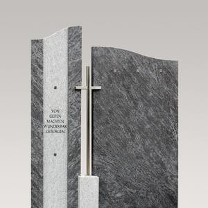 Bonifacio Zweiteiliger Granit Urnengrabstein