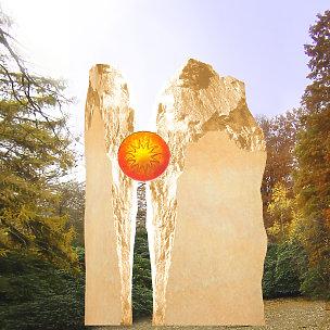 Majestroso Zweiteiliges Grabmal mit Sonnenglas