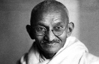 Eine Grafik zu Mahatma Gandhi