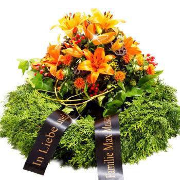 Eine Grafik zu Schleifentexte und Sprüche für Trauerkränze & Blumen