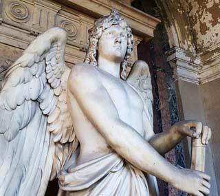 Eine Grafik zu Grabstätte Friedrich Siemens (Fabrikant) - historisches Grabdenkmal mit Grabengel
