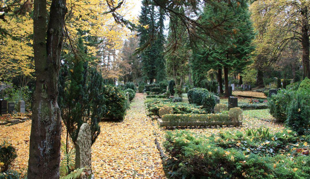 Ein Dorffriedhof im Herbst. | Bildquelle: © Stilvolle Grabsteine