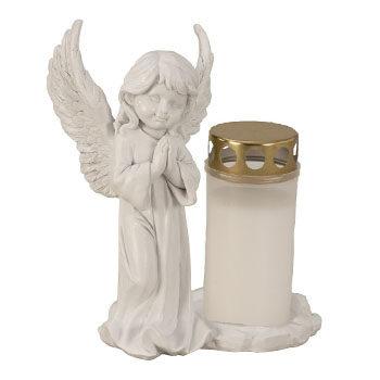 Eine Grafik zu Grablichter mit Engel
