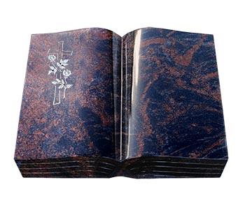 Eine Grafik zu Grabstein & Urnengrabstein mit Buch liegend