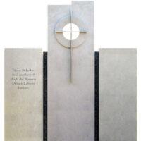 Doppelgrabsteine aus Kalkstein