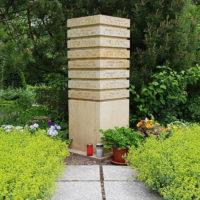 Gemeinschaftsgrabsteine Urnenstelen Naturstein Beispiel Idee Foto Bilder Friedhof Erfurt Hochheim Thüringen