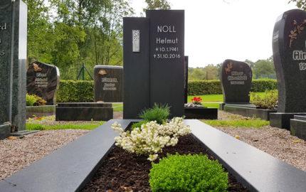 Ronshausen Friedhof Grabmal Noll