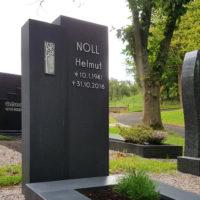 Moderner Grabstein aus dunklem Granit Friedhof Ronshausen