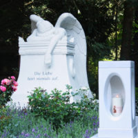 Doppelgrabstein Familiengrabstein Grabsteine Grabmale Engel Marmor Emelyn Story Angel of Grief Rom Gruft Köln Südfriedhof Steinmetz Doppelgrab Familiengrab Steinmetz Köln Südfriedhof