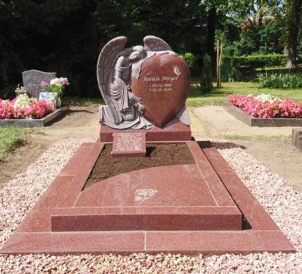 Borne Friedhof Einzelgrabstein Meyer