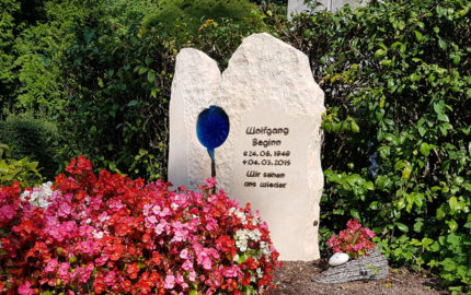 Köln Melatenfriedhof Grabstein Beginn