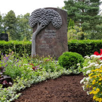 Doppelgrabstein Familiengrabstein Familiengrab Doppelgrab gestaltung modern mit Weg Grabstein Lebensbaum Granit Paradiso Steinmetz Demmin Friedhof