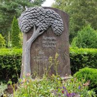 Doppelgrabstein Lebensbaum modern Granit Paradiso Friedhof Demmin Steinmetz