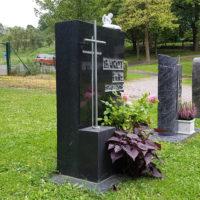 Urnengrabstein für ein Wiesengrab Rasengrab Grabgestaltung Steinmetz Friedhof Ronshausen
