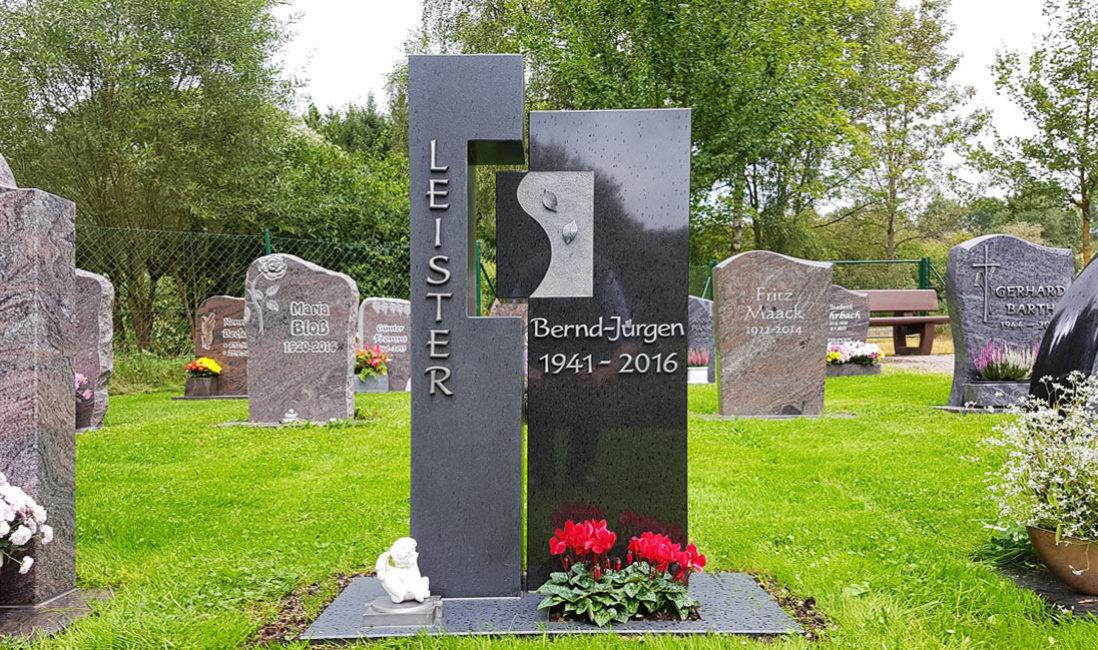 Gedenkstein Urnengrabmal Granit Ronshausen Friedhof