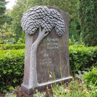 Doppelgrabstein Familiengrabstein Doppelgrab Familiengrab Modern Gestalten Granit Doppelgrabstein Lebensbaum