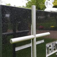 Grabstein Symbol Kreuz aus Edelstahl